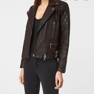 All Saints Armstead Biker Leather Jacket